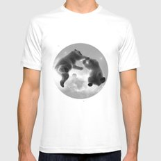 Great Bear White SMALL Mens Fitted Tee