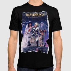 Beetlejuice: Ripped and Torn Greatness! Mens Fitted Tee Black SMALL