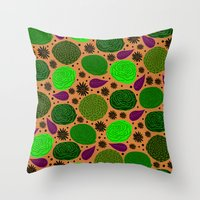 Mary Flower Throw Pillow