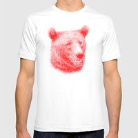 Brown bear is red and pink Mens Fitted Tee White SMALL