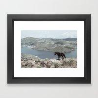 Patmos Scene Framed Art Print