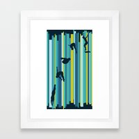 Olympic Diving Framed Art Print