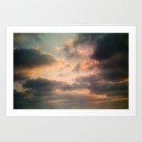 Dreamy Clouds Art Print