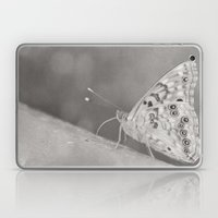 Paused (Butterfly, Black & White) Laptop & iPad Skin