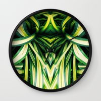 50 Shades Of Green (3) Wall Clock