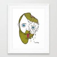 Face Melter Print Framed Art Print