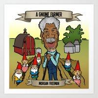 A Gnome Farmer (Morgan F… Art Print
