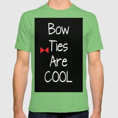 Doctor Who Bow Ties Are Cool Mens Fitted Tee Grass SMALL