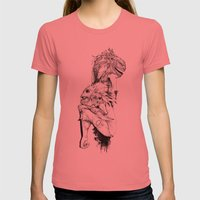 Empty Words Womens Fitted Tee Pomegranate SMALL