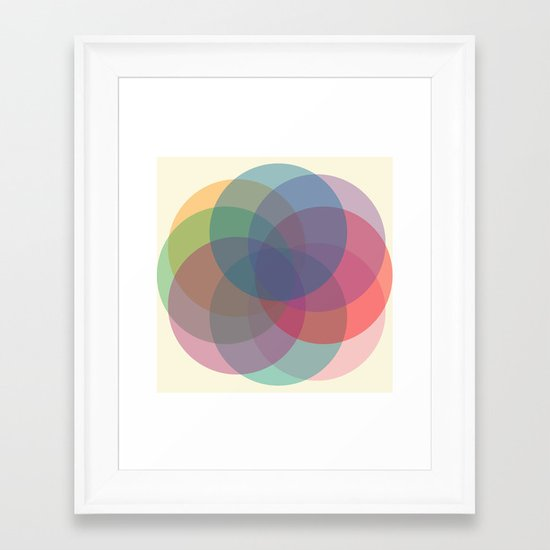 Circles Framed Art Print