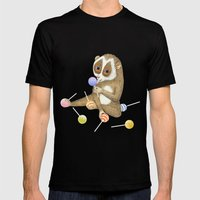 Slow Loris Mens Fitted Tee Black SMALL