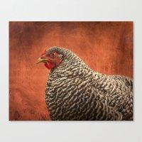 Red Chicken Canvas Print