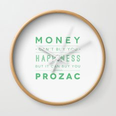 Prozac Nation Wall Clock