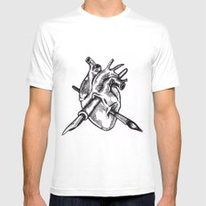 Heart of an artist SMALL Mens Fitted Tee White