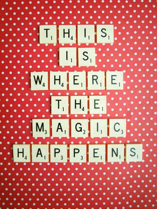 This is Where The Magic Happens Art Print