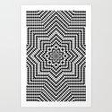 Optical illusion 1 Art Print