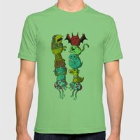 Chicken Fight! Mens Fitted Tee Grass SMALL