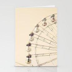 Ferris Wheel on Cream sky Stationery Cards