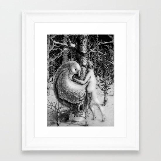 The shelter Framed Art Print