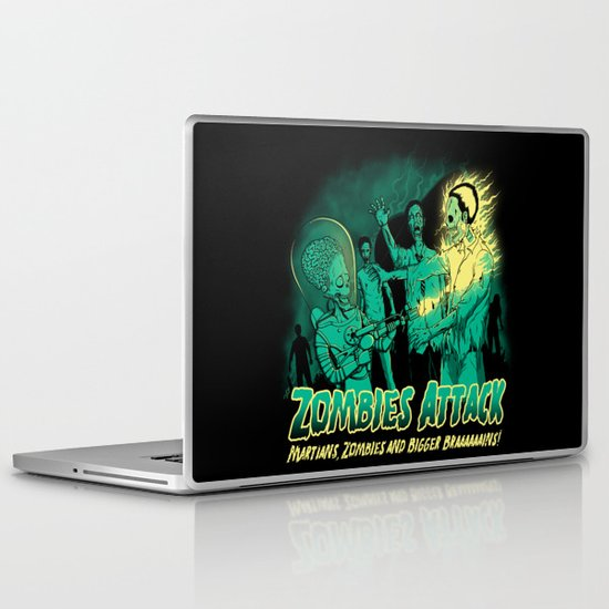 Zombies Attack Laptop & iPad Skin
