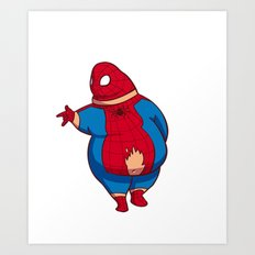 What if superhero was fat(spider-man) Art Print