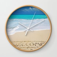 Welcome Home Beach Bum Wall Clock