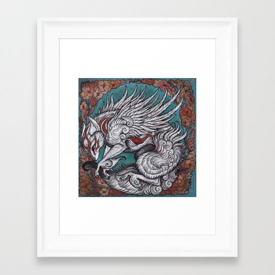 the sun Goddess Framed Art Print
