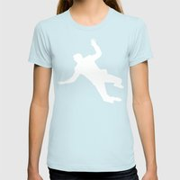 North By Northwest Womens Fitted Tee Light Blue SMALL