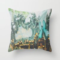 Bryant Park Carousel Throw Pillow