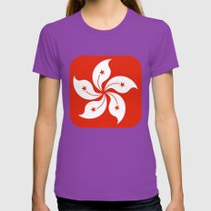 Hong Kong  Womens Fitted Tee Ultraviolet SMALL