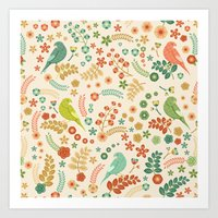 Vector Floral Pattern Art Print