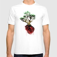Love Your Roots Mens Fitted Tee White SMALL
