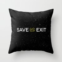 Save and Exit Throw Pillow