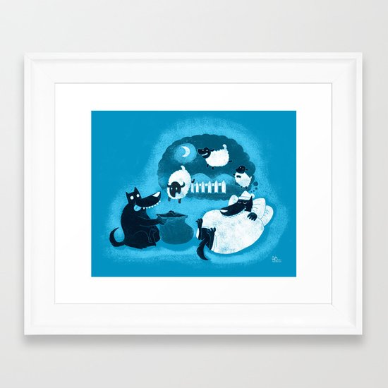 Counting Sheep Framed Art Print