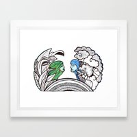 From Two Different World… Framed Art Print