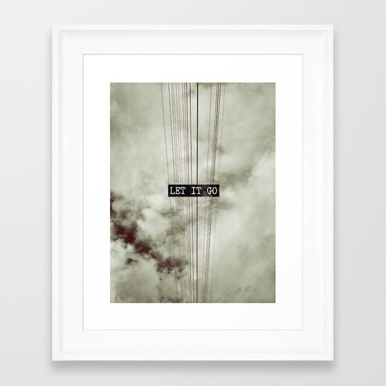 Let It Go Framed Art Print