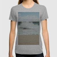 Wave Womens Fitted Tee Athletic Grey SMALL