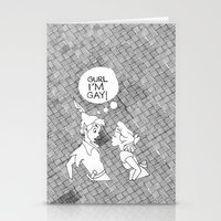 GURL... I'M GAY! (Peter … Stationery Cards
