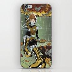 Retro Futuristic Kaiju Mash iPhone & iPod Skin
