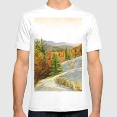 PINE SMALL White Mens Fitted Tee