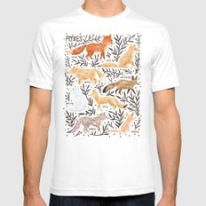 Foxes Field Guide Mens Fitted Tee White SMALL
