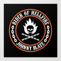 Rider Of Hellfire Canvas Print