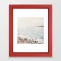 close your eyes ... clear your heart ... let go Framed Art Print