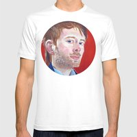 Thom Yorke Mens Fitted Tee White SMALL