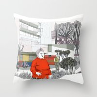 Unidad Vecinal Throw Pillow