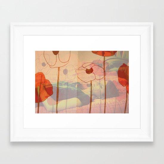 poppies will make them sleep Framed Art Print