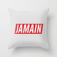 Who's Jamain Icon Throw Pillow