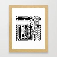 Arrows Pattern Framed Art Print