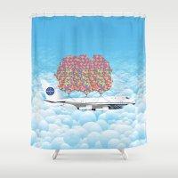 Happy Plane Shower Curtain