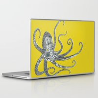 octopus Laptop & iPad Skins featuring Octopus by Rachel Russell